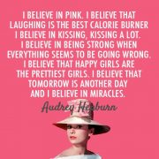 2 bollino MAY Audrey Hepburn I believe in PINK
